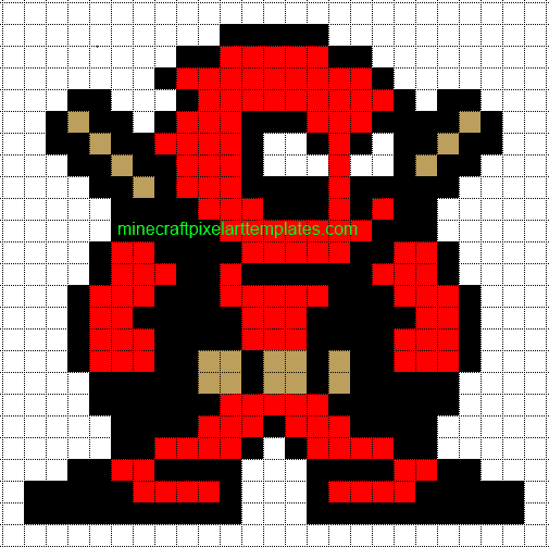 Minecraft Pixel Art Templates Deadpool – Minecraft Pixel Art Template