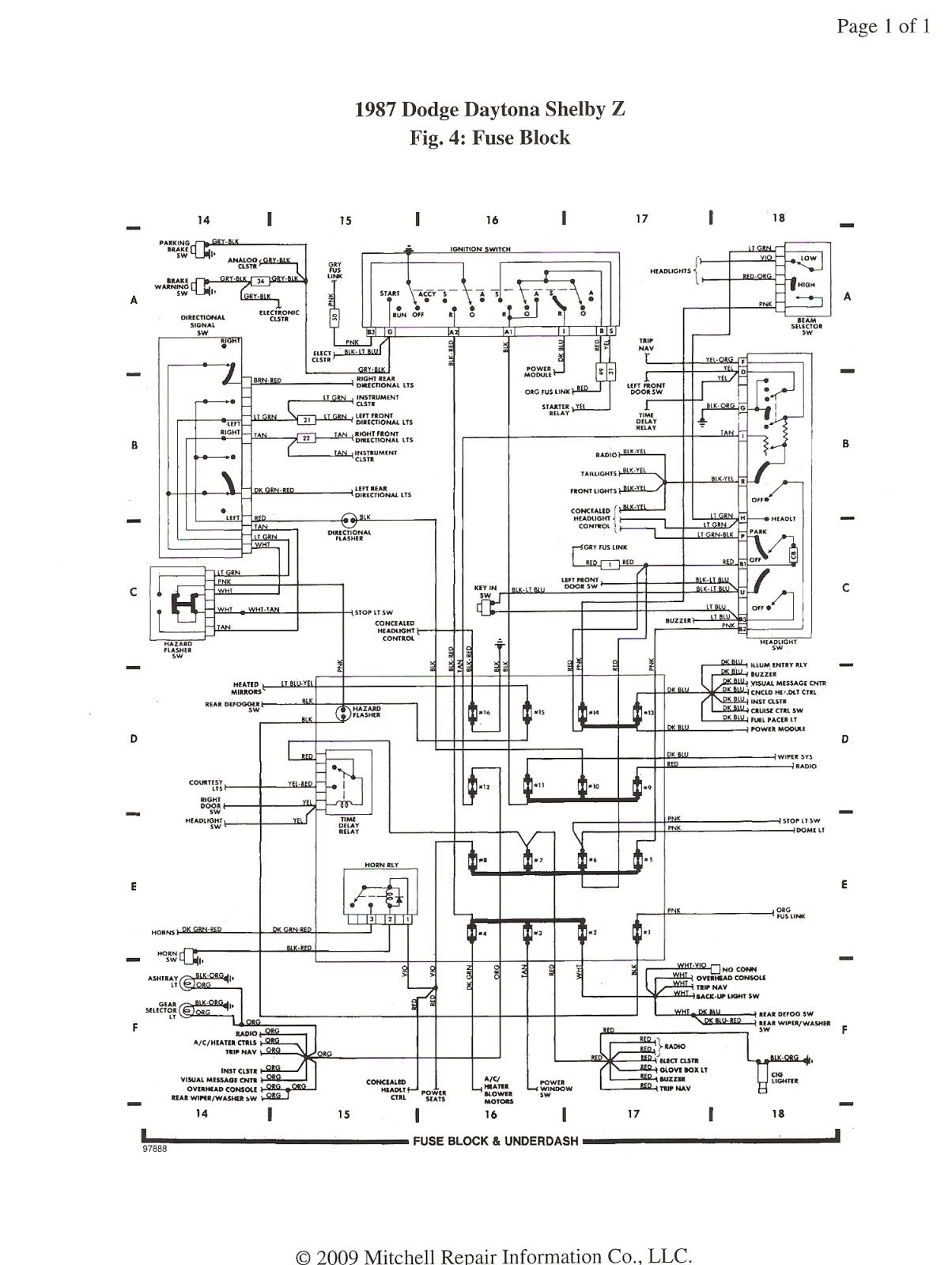 auto wiring diagram 1987 dodge daytona shelby z fuse block 1987 dodge daytona shelby z fuse block