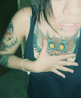 Cool Owl Tattoos On Chest Picture 5