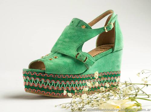 Zapatos Lomm verano 2014. Sandalias y Chatas Moda 2014.