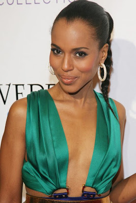Kerry Washington Diamond Hoop Earrings