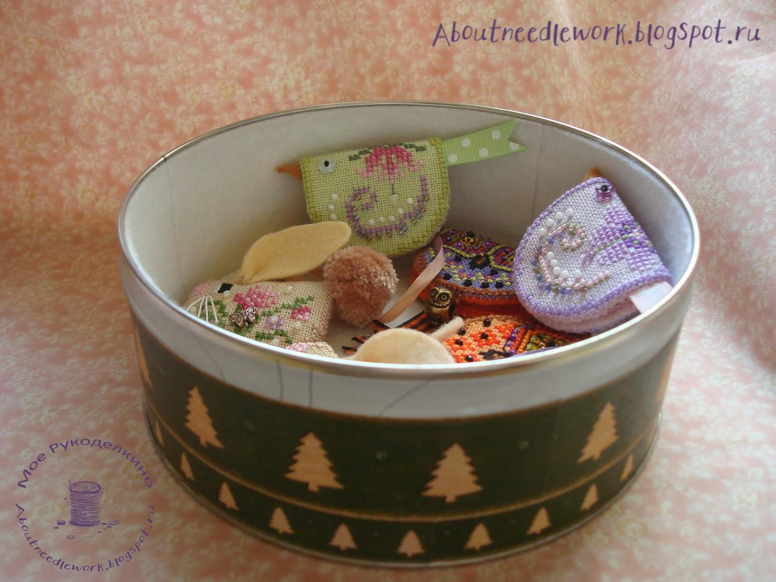 Декорирование коробки: декупаж и вышивка