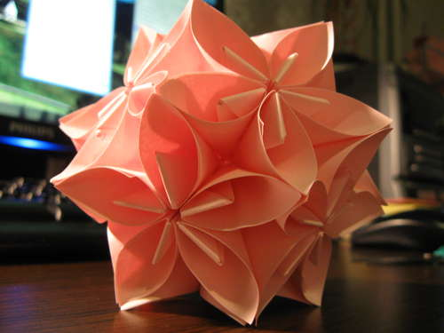 michart origami kusudama flower