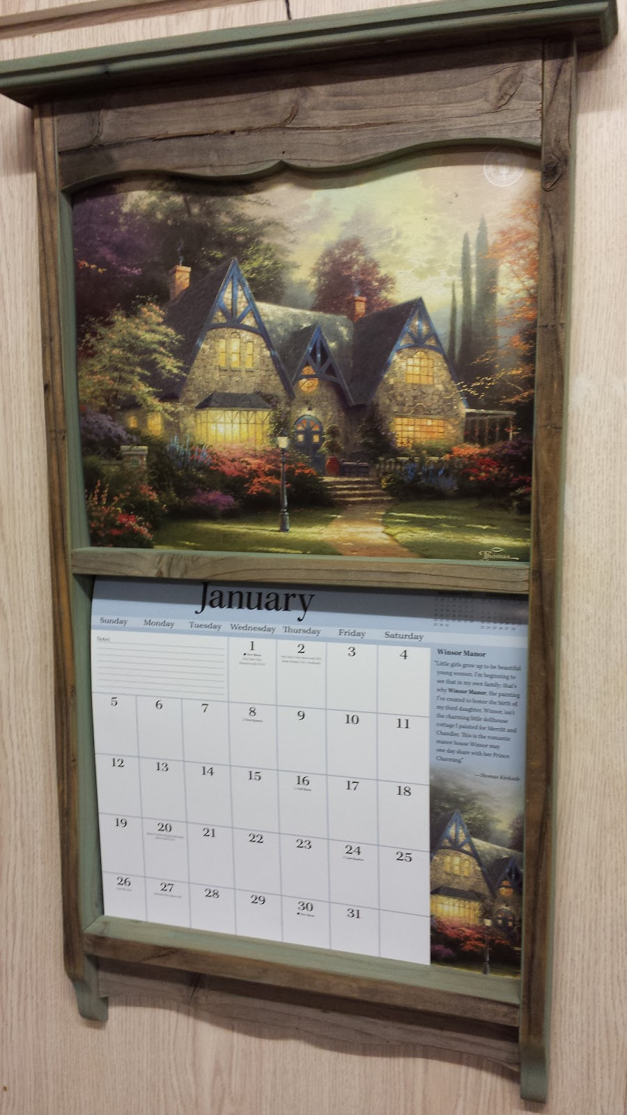 family had a calendar frame with the fancy lang calendars since i ve