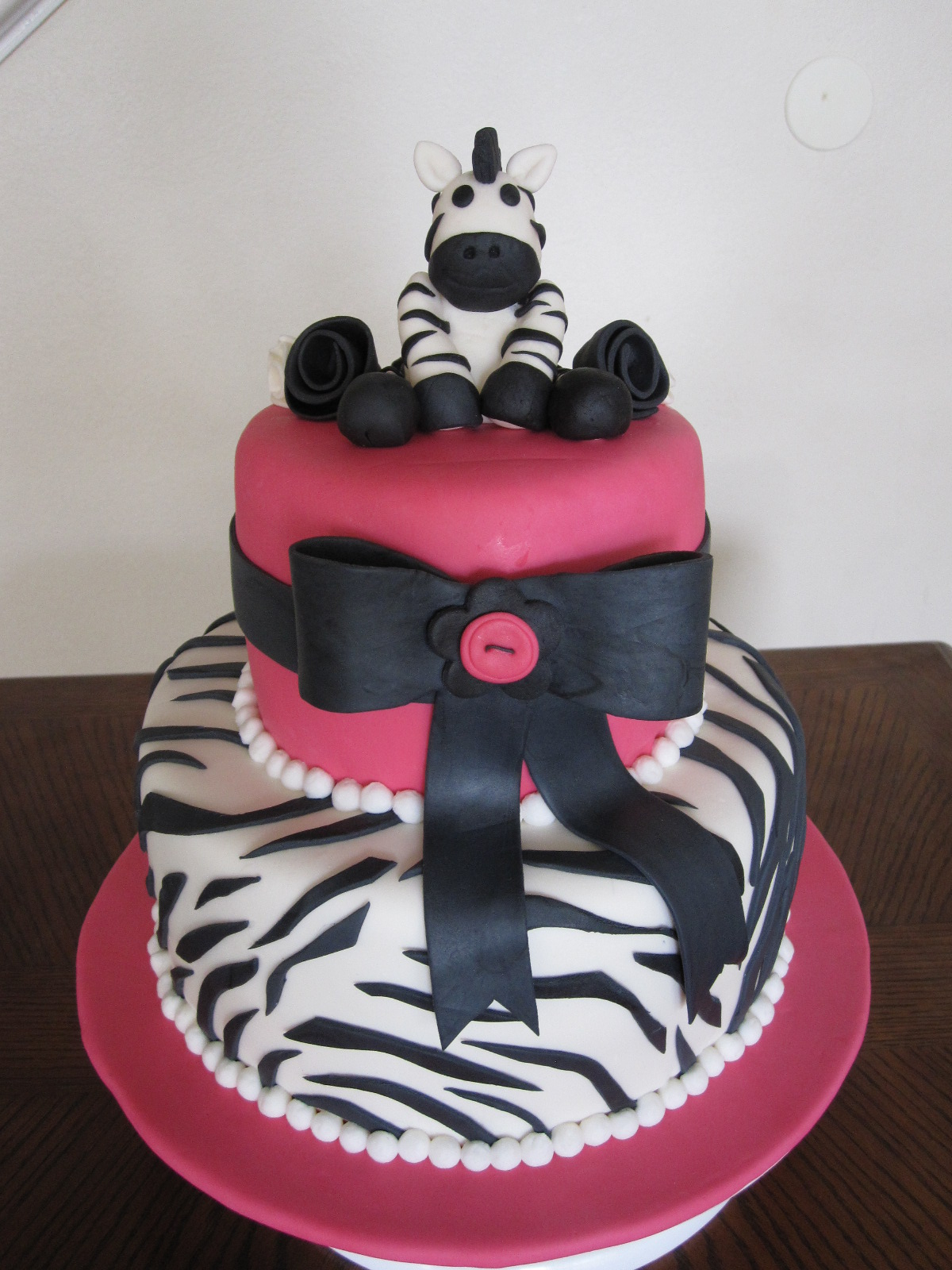 ms cakes zebra baby shower cake