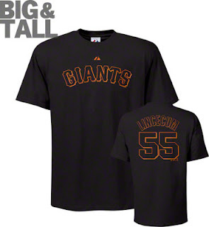 Tim Lincecum Big and Tall Giants T-Shirt Jersey