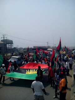 Biafra: IPOB Hits Aba Again In Protest For Release Of Nnamdi Kanu (Photos)