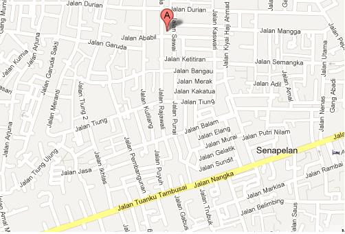 peta lokasi kota pekanbaru