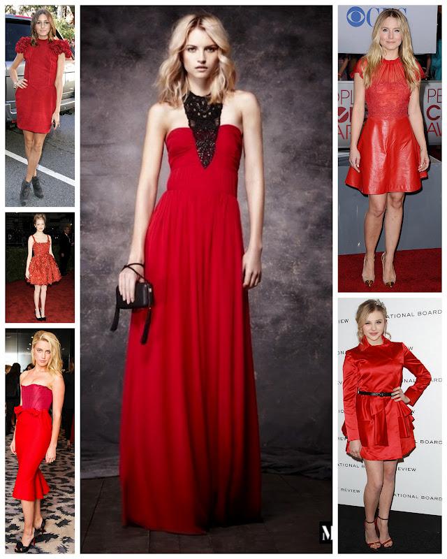 Vestido preto acessorios vermelhos