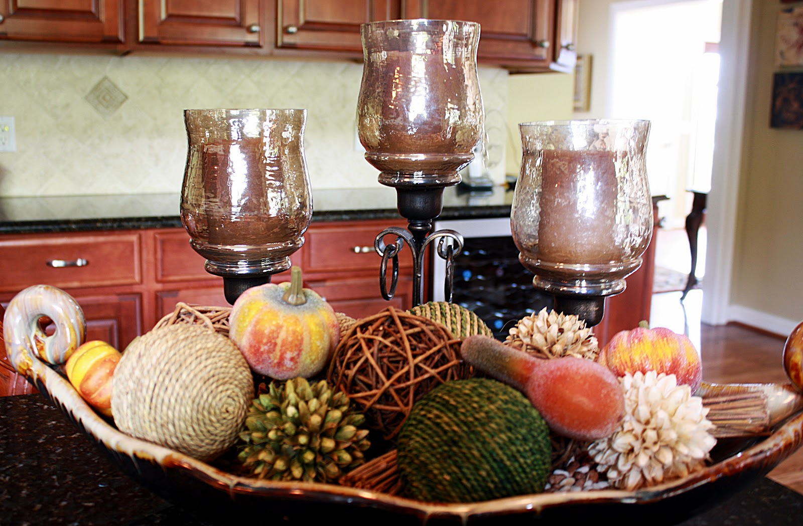 3 quick and easy fall d cor trends brighton homes utah for Kitchen island centerpiece ideas