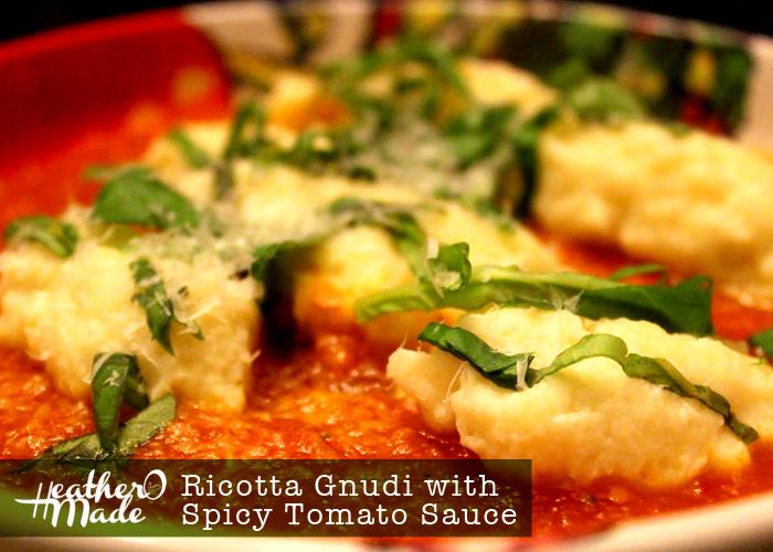 ricotta gnudi with spicy tomato sauce recipe