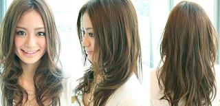 Contoh Model Gaya Rambut Layer atau Lapis