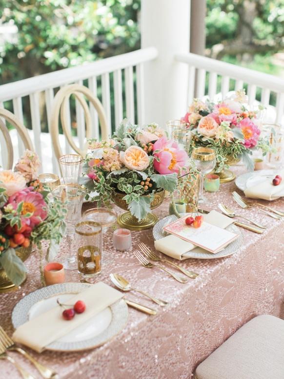 una boda con mucho brillo
