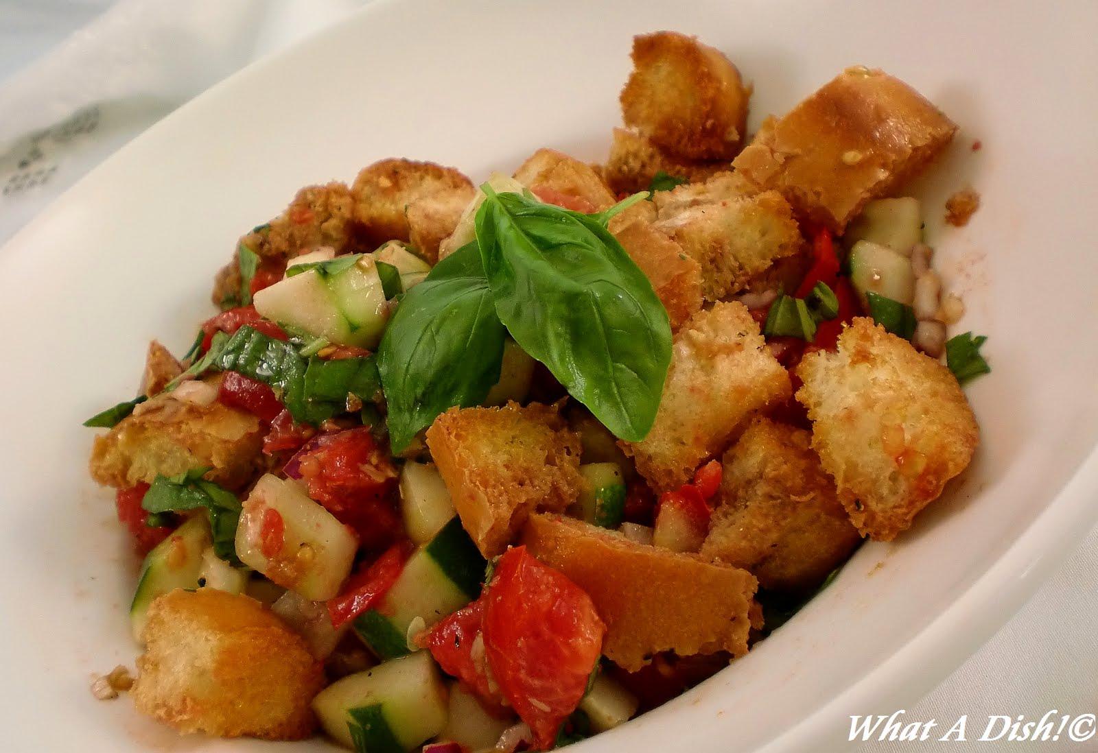 What A Dish!: Panzanella- Italian Bread Salad