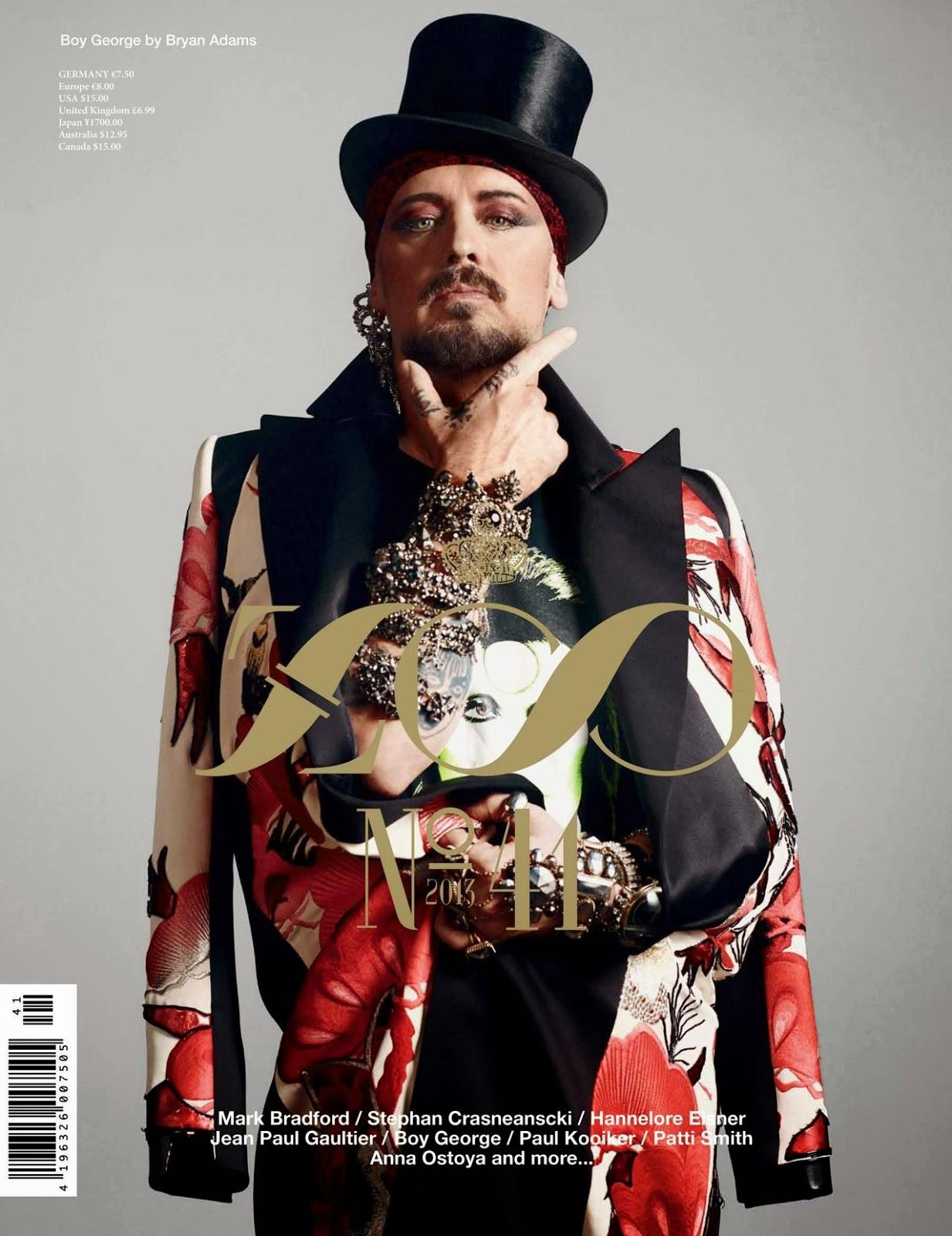 Boy George En Portada Cu Druple Para Zoo Magazine 41 Male Fashion Trends