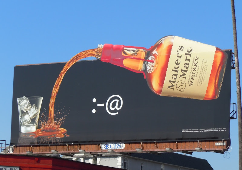 Maker's Mark missed glass billboard