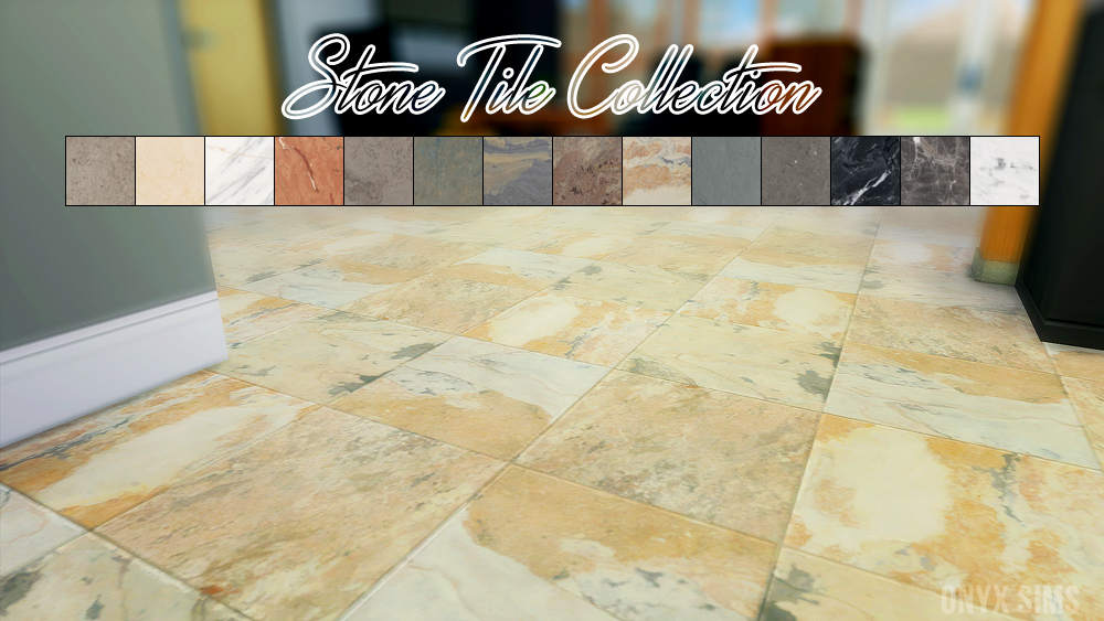 Stone Tile Collection - Onyx Sims
