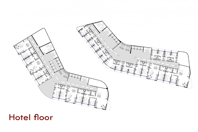 Hotel floor floor plans of father and son skyscraper