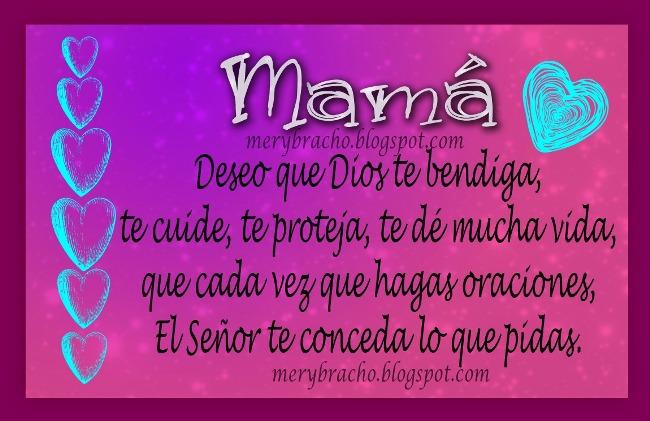 Poesía Corta para día especial de la Madre.Madre de mi querer. Te quiero mami. Te amo. Feliz día de las madres. Feliz cumpleaños a mamá. Imágenes, postales cristianas, tarjetas religiosas.