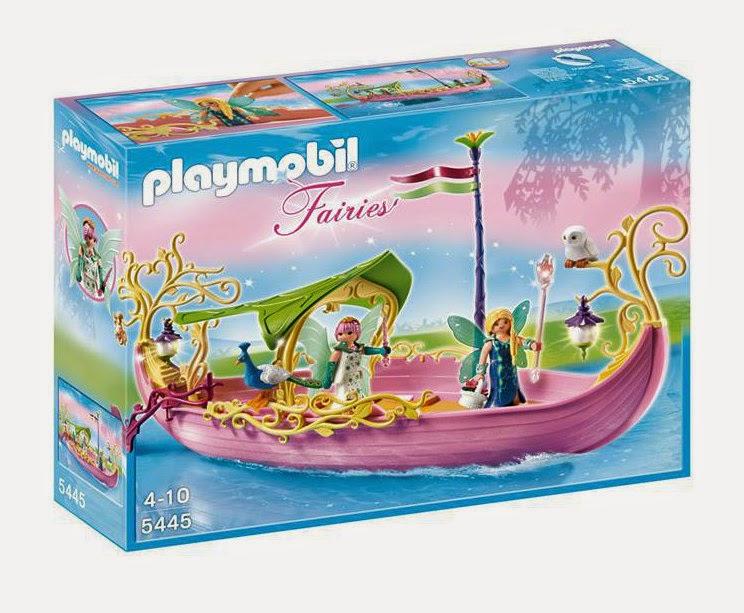 JUGUETES - PLAYMOBIL Fairies : Hadas 5445 Barco de la Reina de las Hadas Toys | Producto Oficial | Edad: 4-10 años