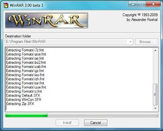 Installation of Winrar in Windows 7