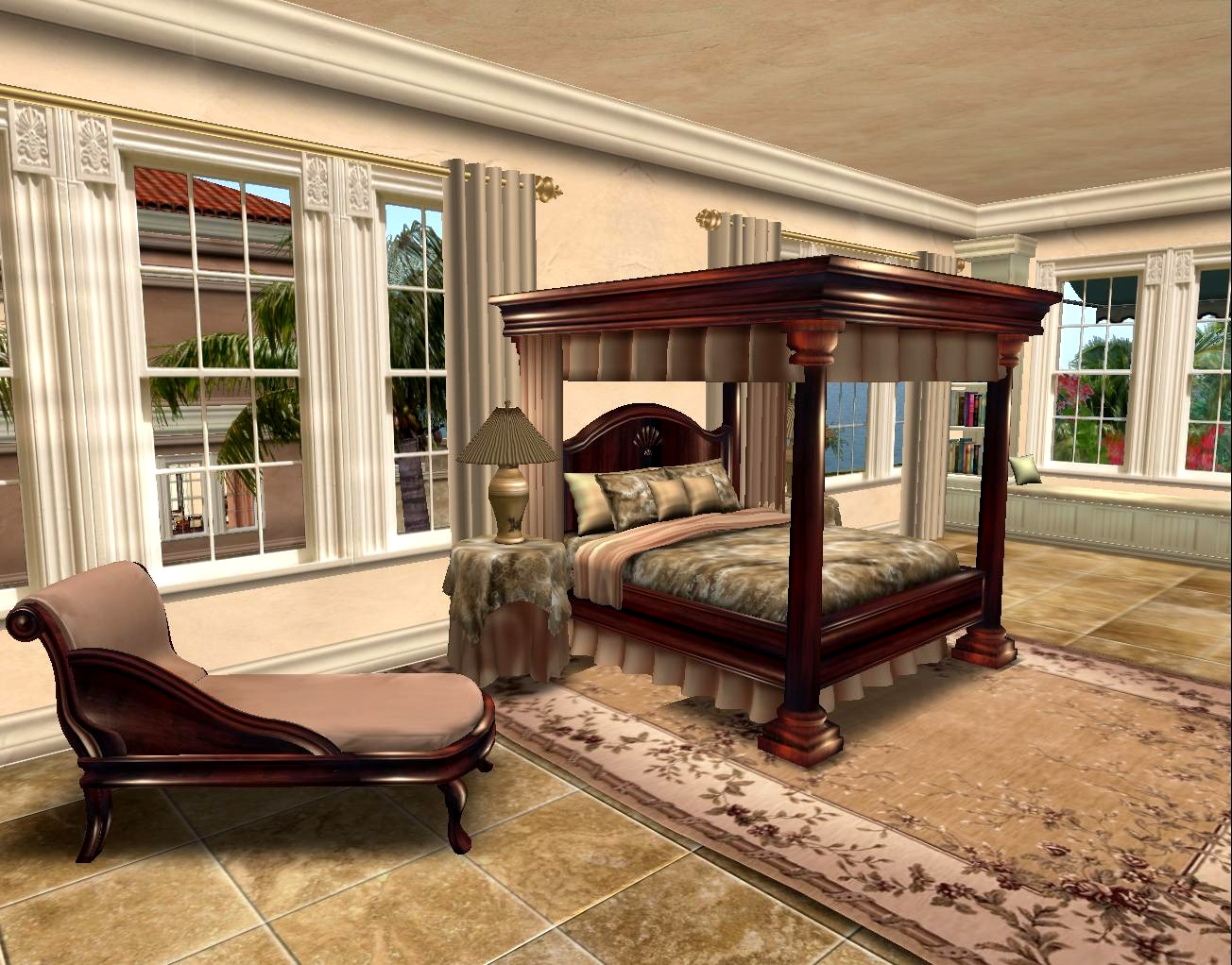 La Galleria: New Walnut Empire Bedroom Set