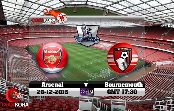 مشاهدة مباراة آرسنال وبورنموث اليوم 28-12-2015 في الدوري الإنجليزي