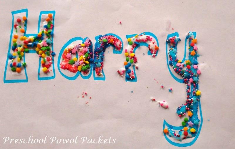 Decorating Names Activitycraft Preschool Powol Packets