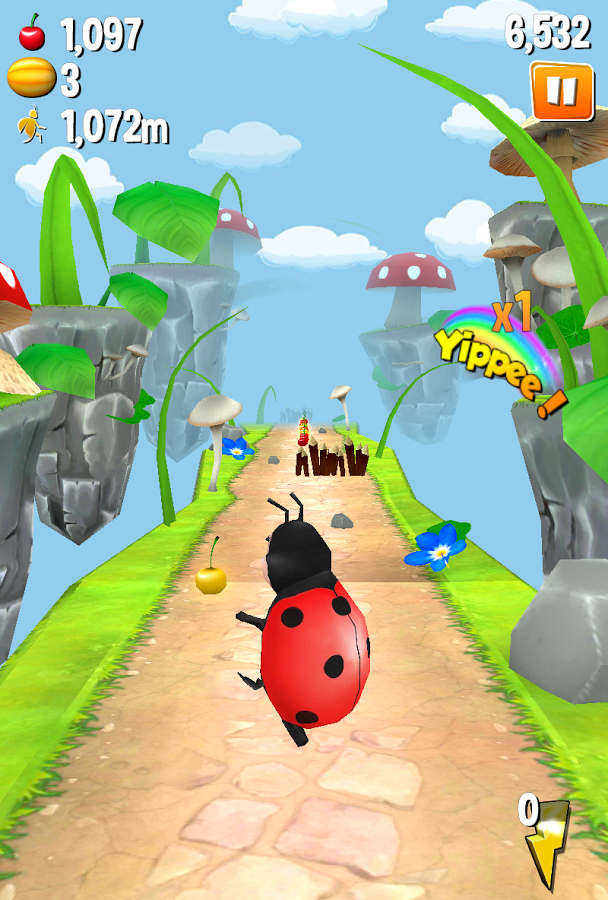 Turbo Bugs 2:Survival Run v2.0 [Unlimited Cherrys/Melons] APK+DATA
