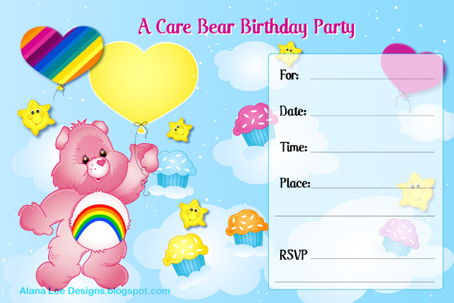 29 Free Birthday Invitations – Care Bear Birthday Invitations
