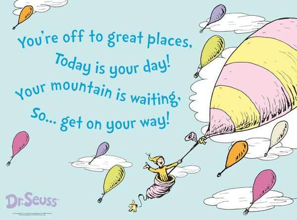 In the words of Dr Seuss: