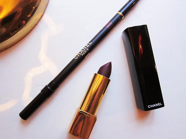 Chanel Rouge Allure Velvet in L'impatiente and Chanel le CRay Lèvres Amarante, beauty, makeup, luxury cosmetics