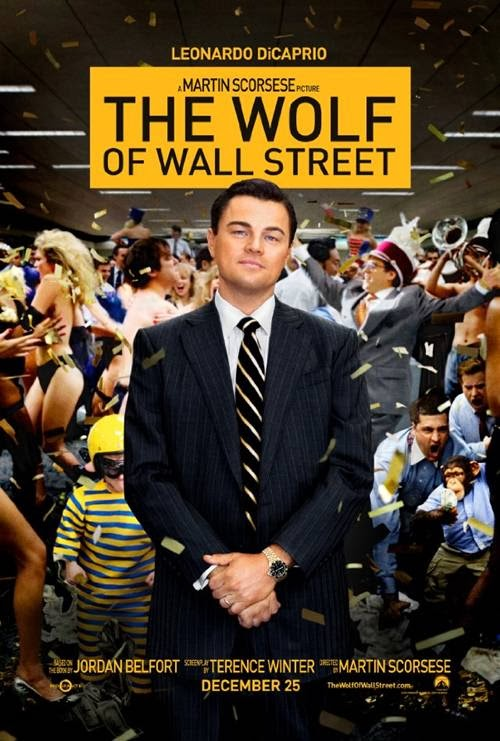 The Wolf of Wall Street movie promo art