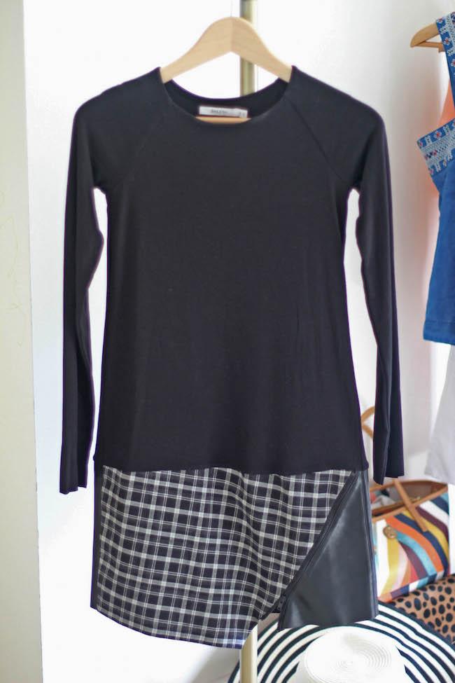 bailey 44 mixed media shift dress