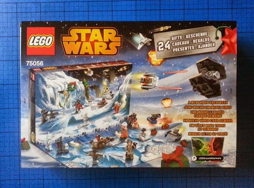 LEGO Star Wars Advent Calendar 2014 daily reveal back of box
