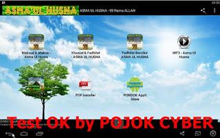 Tampilan Aplikasi Asma Ul Husna - 99 Nama Allah