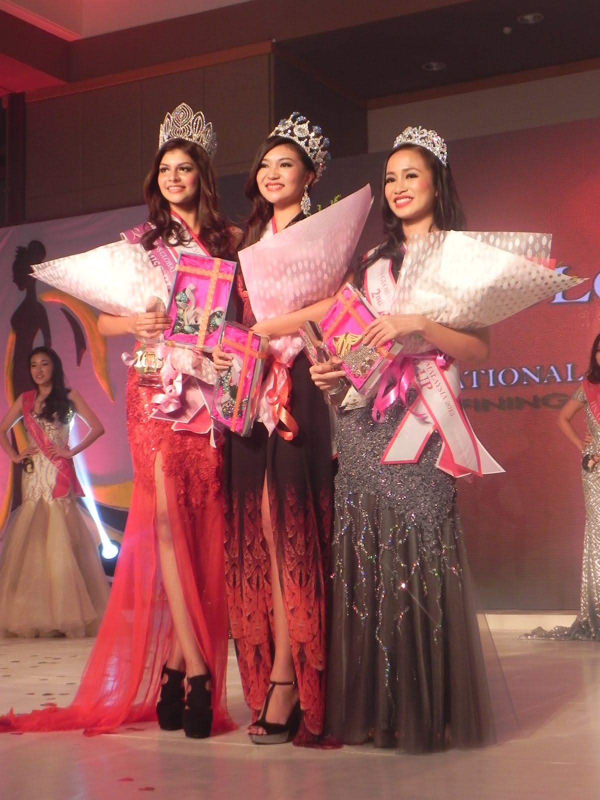 MISS GLOBAL INTERNATIONAL MALAYSIA 2015 TOP 3 WINNERS. CONGRATS!