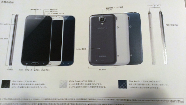 Samsung Galaxy S4 with Blue Arctic color Image leaked in Japan