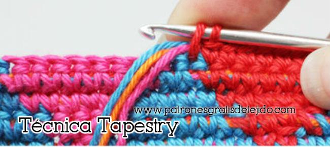 Tapresty ganchillo