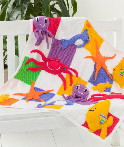 Sea Creatures Baby Blanket - Free Pattern