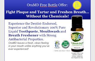 OraMD toothpaste mouthwash free