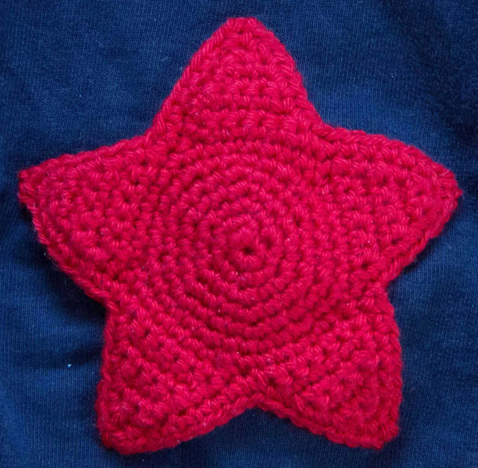 crochet star free patern