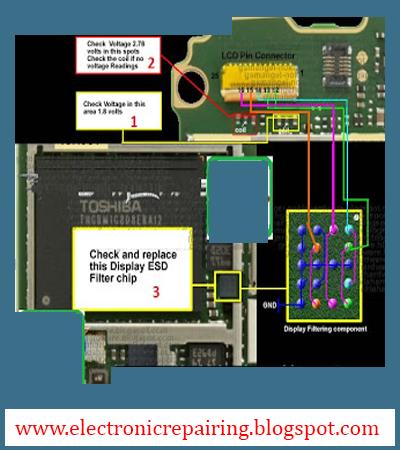 Nokia X6 LCD Display IC jumper solution