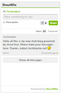 διάφορα chat για το blogger