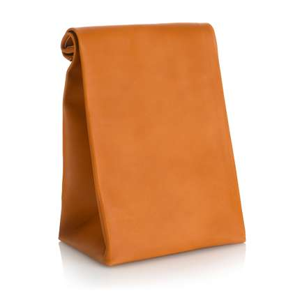 leather brown paper bags