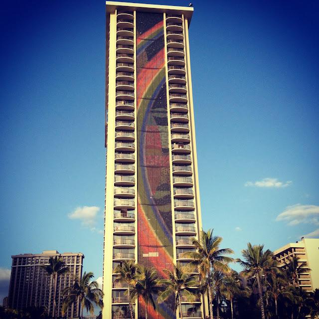 Mid-Century Modern Building Architecture Oahu Hawaii Waikiki