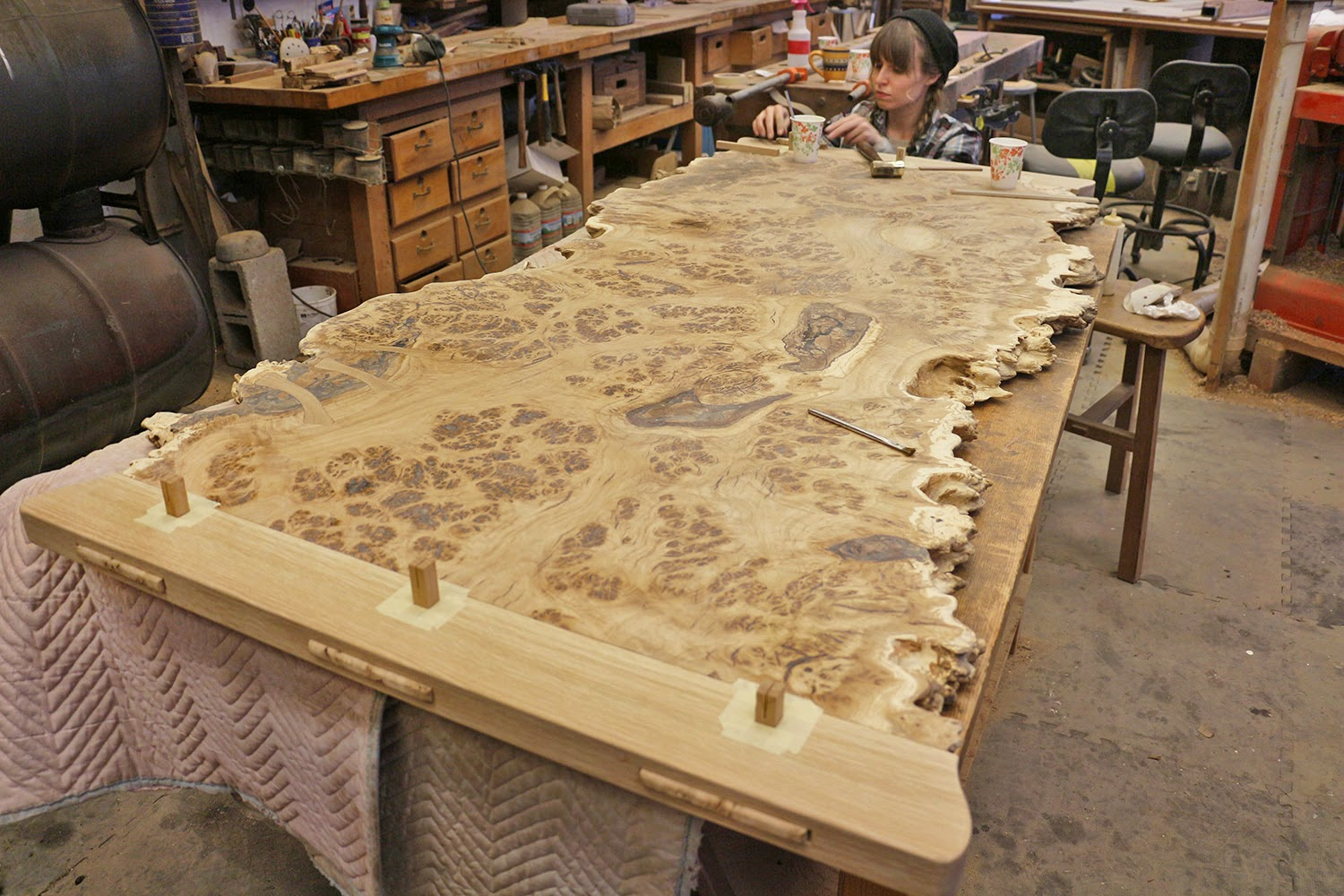 chronicles of a woodworking apprentice the live edge brown oak burl