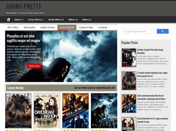 Johny Prett Blogger Template