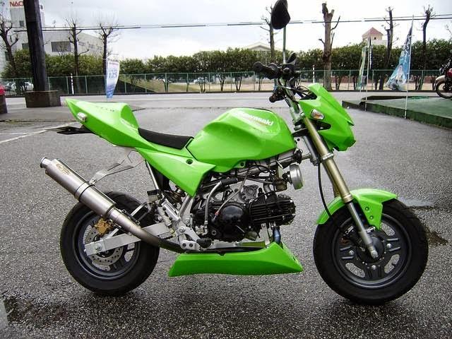Modifikasi Kawasaki KSR 110 Hijau