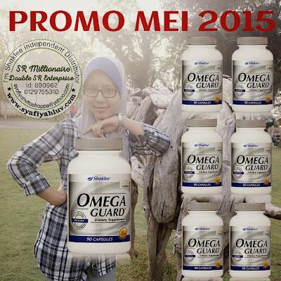 Bermula 1 Mei 2015 Shaklee telah mengadakan promosi bagi Omega Guard dan Phytocol-ST. Dengan pembelian 6 botol dan akan menerima sebotol secara PERCUMA sahaja. Bukan tu je tau dapat jugak PERCUMA KEAHLIAN SEUMUR HIDUP serta dapat PERCUMA sebotol Vita-Lea. Jika buat pembelian 2 botol anda akan mendapat 5% diskaun serta sebotol Vita-Lea secara PERCUMA. Untung kan banyak PERCUMA.